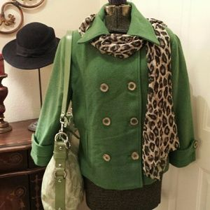 EUC CAbi Spruce Green Blazer or Jacket Size 12